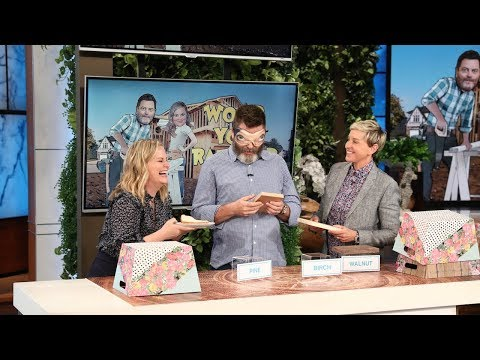 Nick Offerman & Amy Poehler Play 'Wood You Rather?'