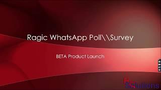 Free Ragic WhatsApp Poll Integration