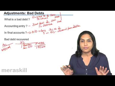 What is Bad Debt | CMA Foundation Final Accounts Free Video Lecture Tutorials You Tube