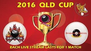 2016 Qld Cup - Men's 8 Ball Team - Hervey Bay v Brisbane 10:30pm