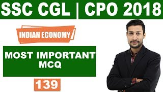 SSC CGL CPO   2018 ||  Indian Economy-Most Important MCQ
