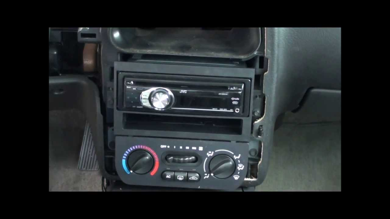 00-02 Saturn SL2 radio Install (After Trim Removal) - YouTube