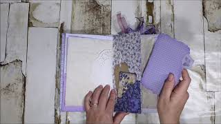 Lilac & Blue Hand Made Journal (for sale)