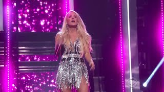 Carrie Underwood On Stage, Performs Emotional New Single