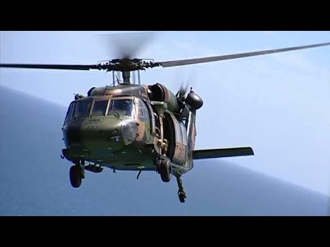 Inside a Black Hawk Helicopter