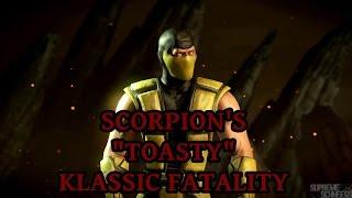 mortal kombat x scorpion s toasty klassic fatality performed on all characters