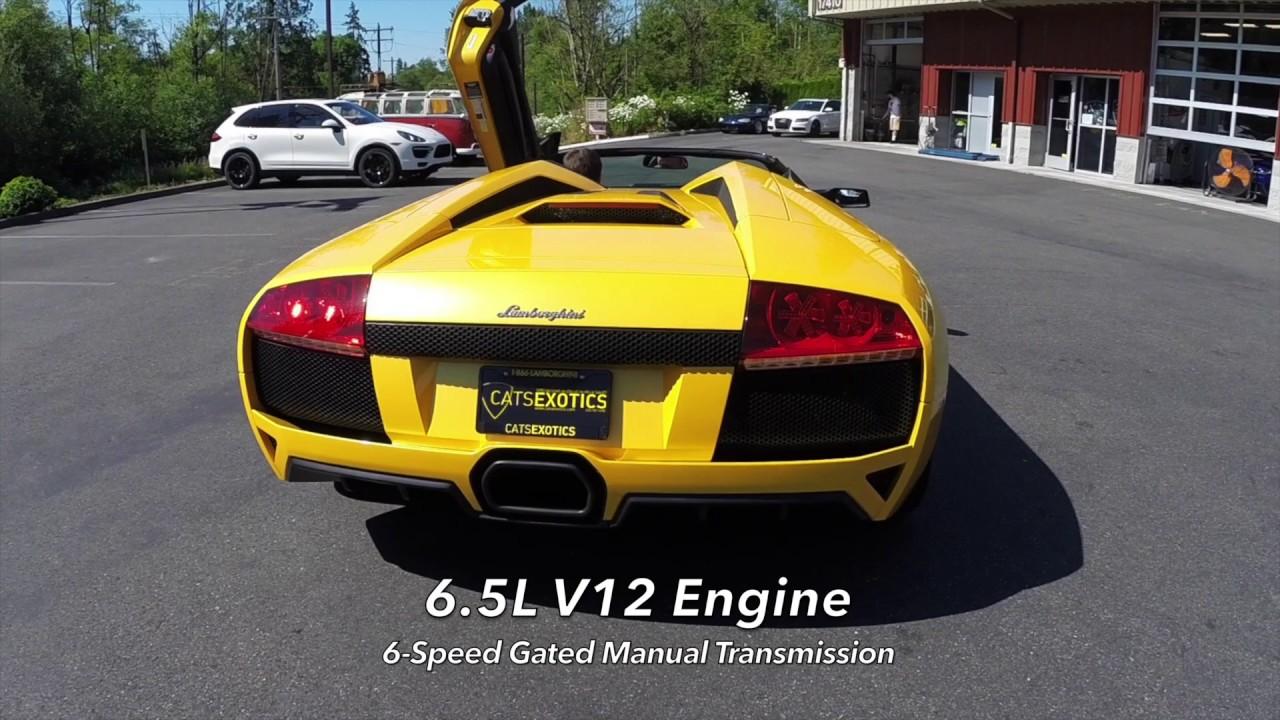 2009 Lamborghini Murcielago Lp640 Roadster 6 Speed Manual Youtube