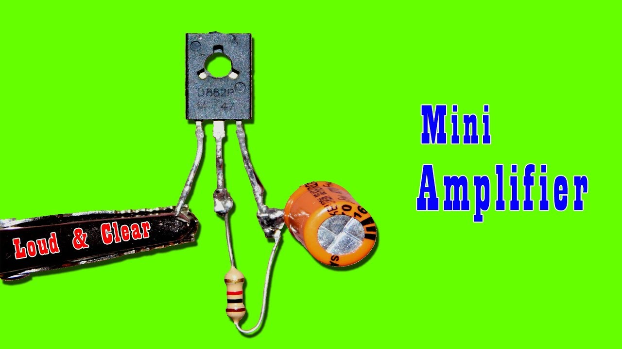 Mini Audio Amplifier Circuit   Loud & Clear Sound