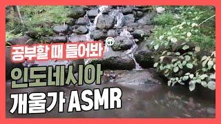 [집중력 높이는 소리] 강성태 직접 촬영&녹음! 인도네시아 청정 물소리 백색소음 ASMR ★ 공신 강성태