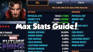 [Marvel Future Fight] Max Stats Guide!