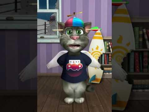 Talking Tom Sings Je m'appelle Funny Bear The Gummy Bear Song (Talking Tom Singing Songs)