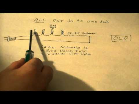 how christmas lights work  why when one bulb burns out christmas tree led light wiring diagram