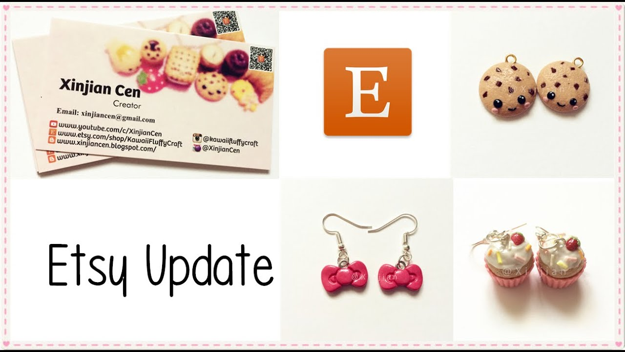 Etsy Shop Update and My New Business Card! Free Coupons! - YouTube