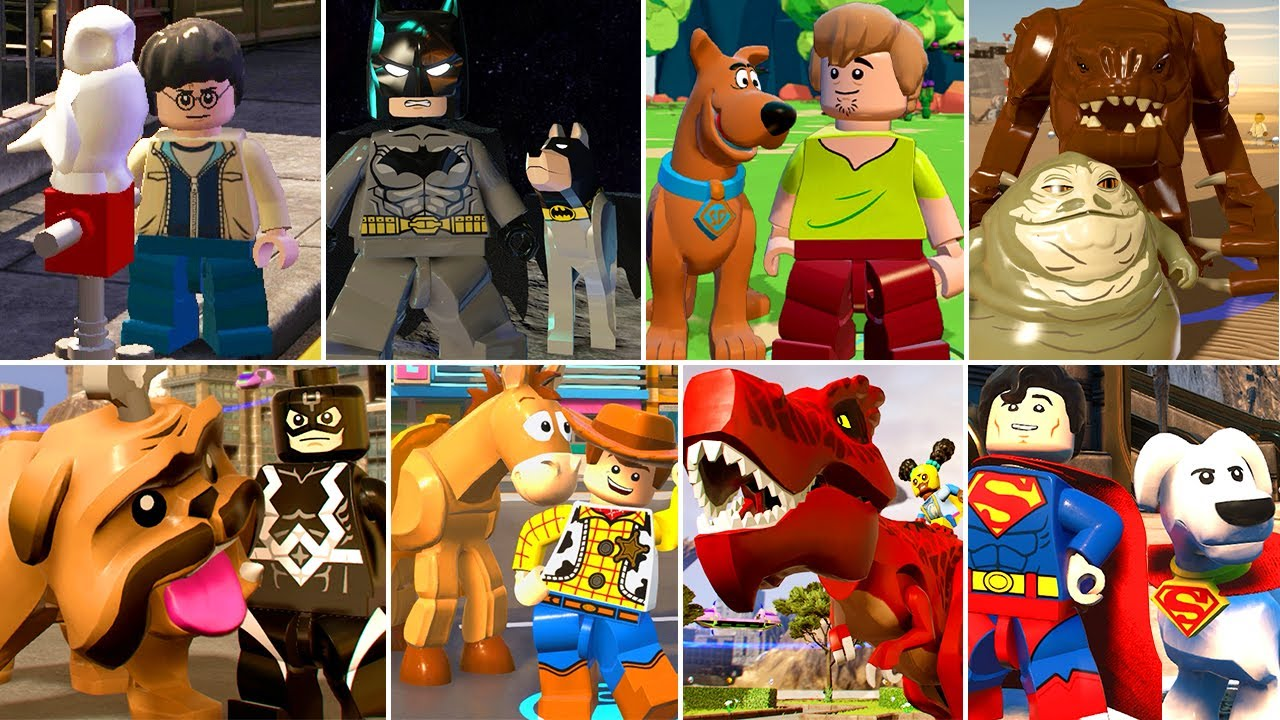 All Characters With Pets in LEGO Videogames
