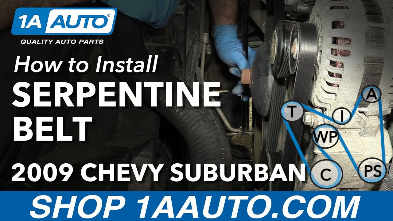 how to replace serpentine belt 07 13 chevy suburban [ 1280 x 720 Pixel ]