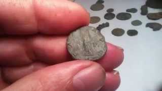 METAL DETECTING SOME UNUSUAL ROMAN COINS
