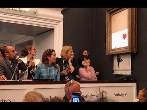 $1.4 Million Sale Banksy Artwork SHREDS Itself