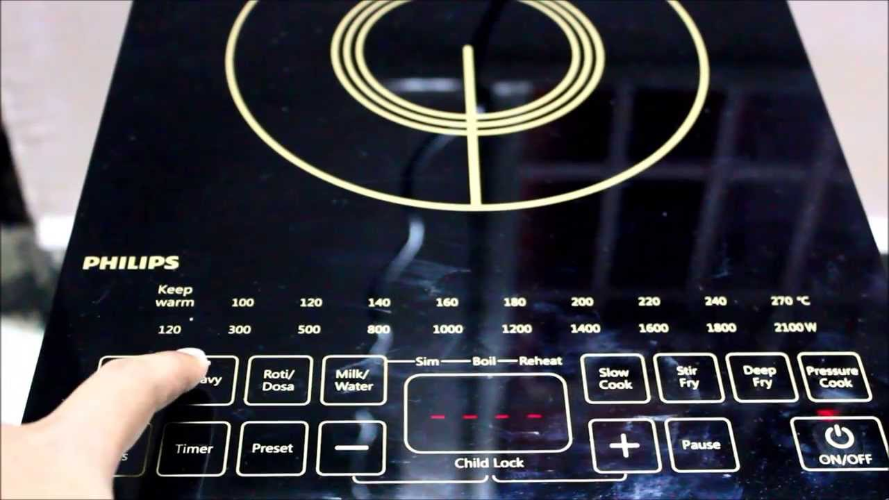 PHILIPS INDUCTION COOKER   Video Demo   YouTube