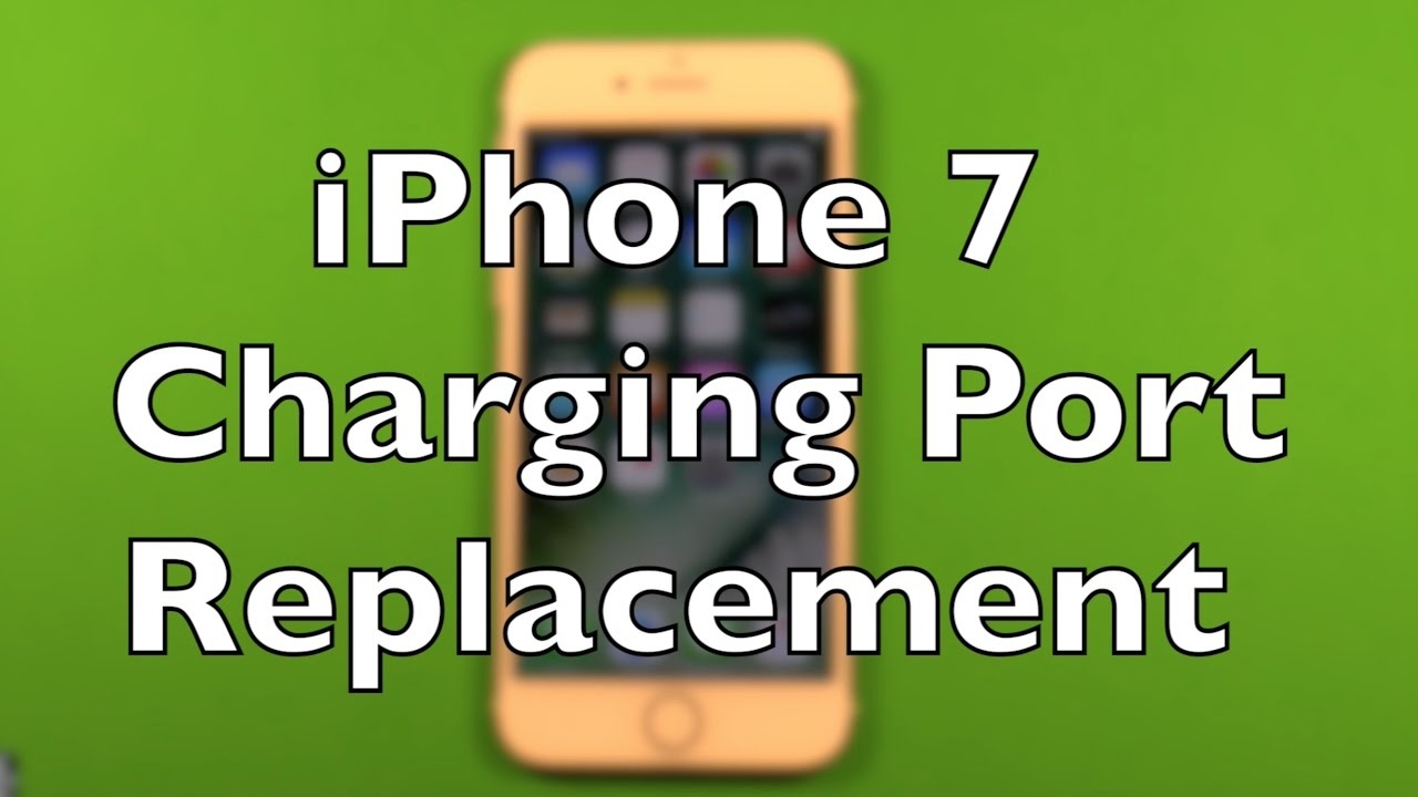online retailer 8ca02 1efb9 iPhone 7 Charging Port Lightning Replacement Repair How To Change