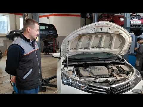 Замена масла на Toyota Corolla при пробеге 100000 км