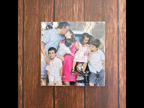 Transfer a Photo to Wood with Mod Podge