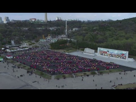 Pyongyang holds giant ball to commemorate founder's birth