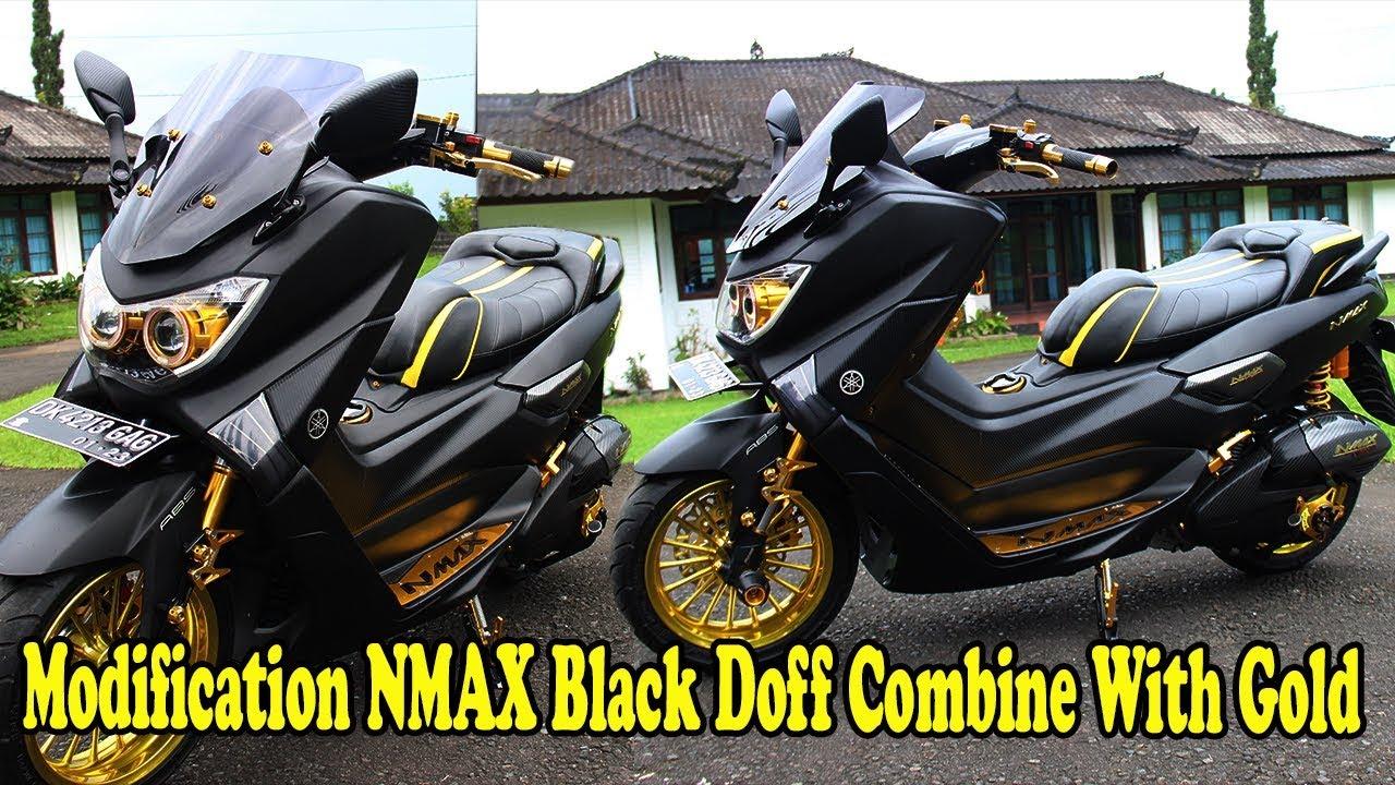Gambar Modifikasi Nmax Hitam Doff 2019 Terbaru Modifikasi Motor