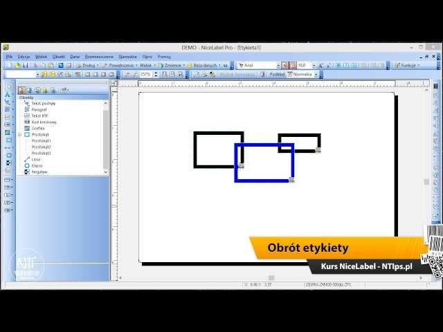 Kurs NiceLabel 03 - Manipulacja obiektami