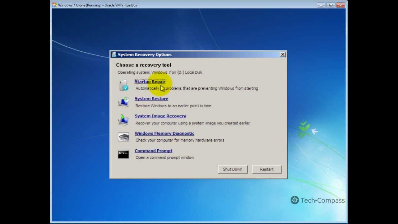 How to repair windows 7 startup problems by tech compass for How to choose windows