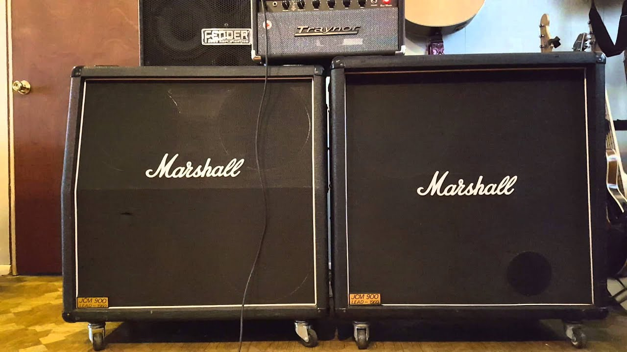 Marshall 1960A vs 1960B 4x12 Cab Comparison - YouTube