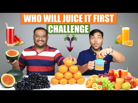 WHO WILL JUICE IT FIRST CHALLENGE | Juice Challenge | Juice Drinking Competition | Food Challenge