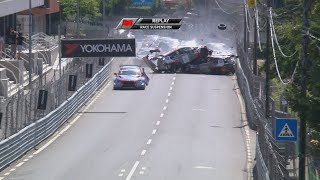 WTCR Race 1- Big crash in the streets of Vila Real Portugal