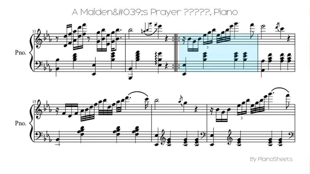 A Maiden's Prayer 少女的祈禱 [Piano Solo] - YouTube