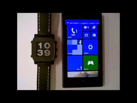 A demo of the Agent Smartwatch prototype