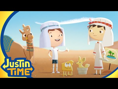 Justin Leads a Camel Train! | Justin Time Season 1