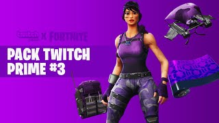 "VOICI THE OFFICIAL DATE OF THE NEW PACK FREE ""TWITCH PRIME 3"" ON FORTNITE!"
