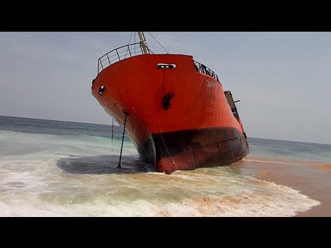 Mystery as ghost ship runs aground in Liberia