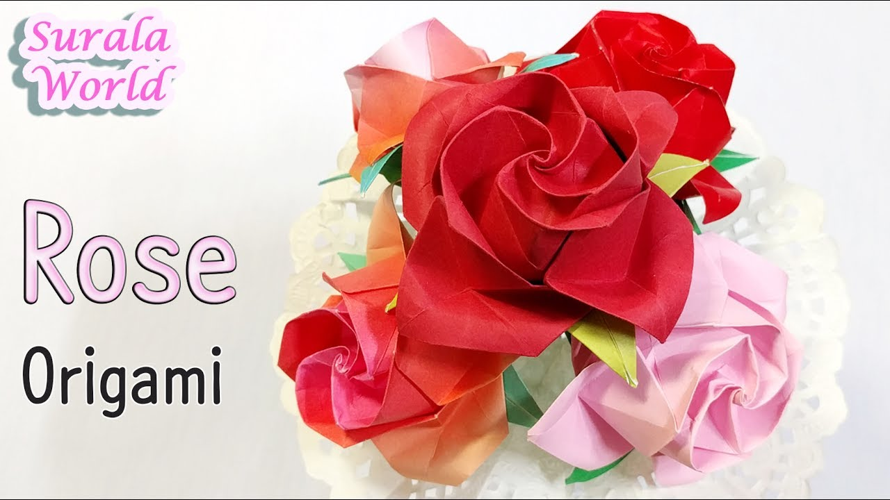 Origami rose how to make a paper rose youtube origami rose how to make a paper rose izmirmasajfo Choice Image