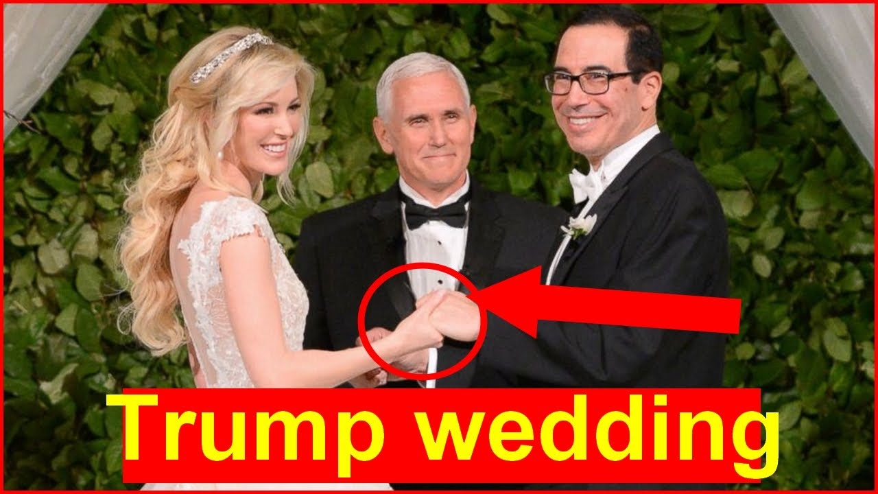 Mike Pence officiates the wedding of Steve Mnuchin and Louise Linton