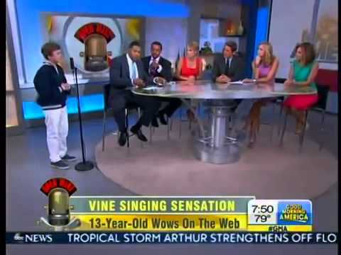 Jeffrey Miller VINE Singing Sensation GMA FULL INTERVIEW 13 Year Old Viral Vine Star