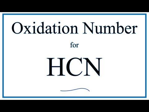 How to find the Oxidation Number for C in HCN     (Hydrogen cyanide)