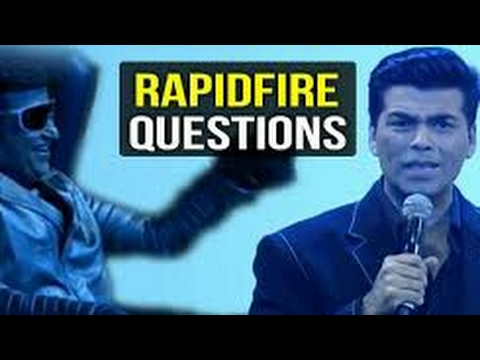 Karan johar's Rapid Fire With   Rajnikanth   Akshay Kumar   A.R Rahman   Amy Jackson   Interview  HD
