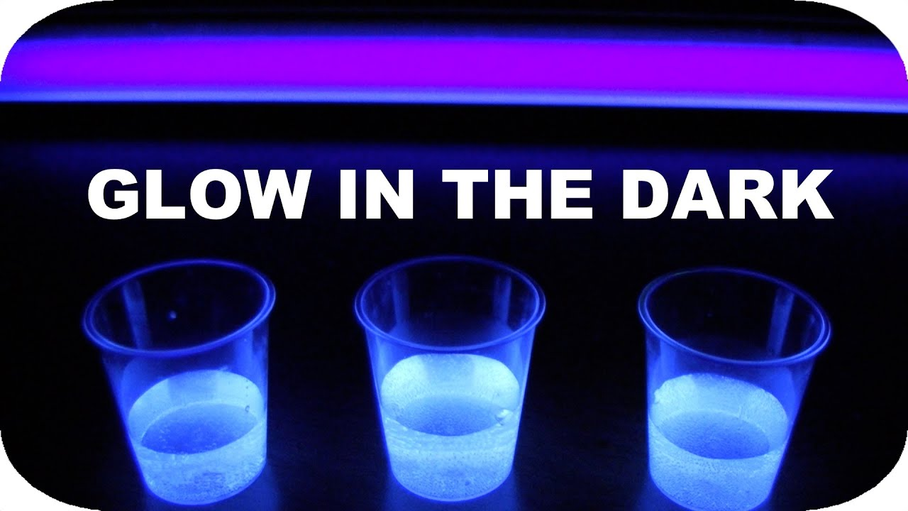 How to Make Glow in the Dark Drinks YouTube