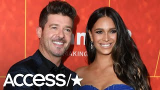 Robin Thicke Can't Keep His Hands Off GF April Love Geary's Baby Bump! | Access