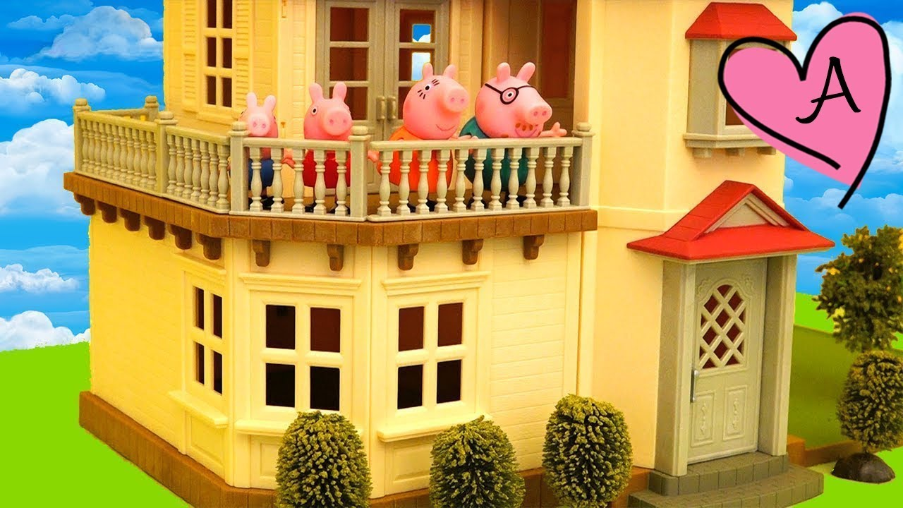Juguetes de peppa pig en espa ol y casa de mu ecas calico for Casa de juguetes para jardin