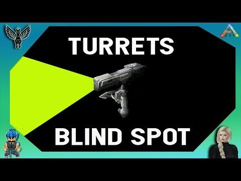 TURRETS BLIND SPOT - ARK PVP 2018