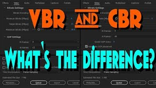 Quick-Tip Tuesday | CBR & VBR | What's the difference?
