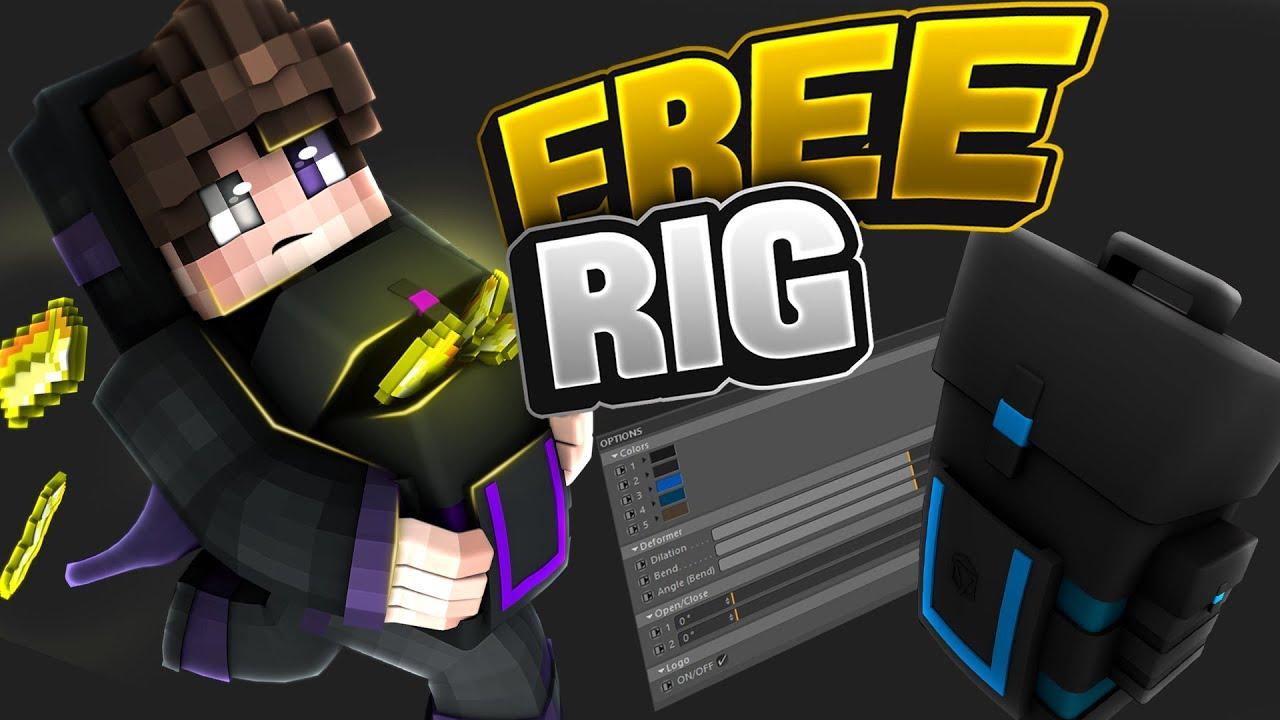✦ [Free] Backpack Minecraft Rig v2 ➤ Cinema 4D ✦