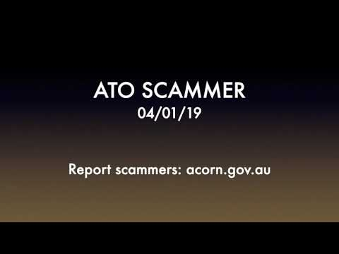 ATO (Australian Tax Office) SCAMMER 04/01/2019