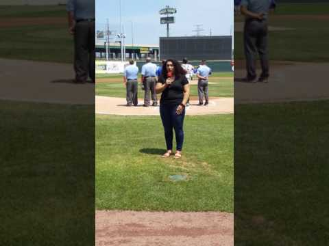SINGING THE NATIONAL ANTHEM FOR A RAILCATS GAME!